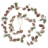 Frosted Pine & Pinecone Garland
