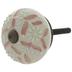 Cream & Pink Round Floral Knob