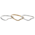 10K Gold Plated & Sterling Silver Plated Wavy Stacking Rings - Size 8