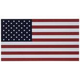 American Flag Car Magnet