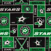 NHL Dallas Stars Block Fleece Fabric
