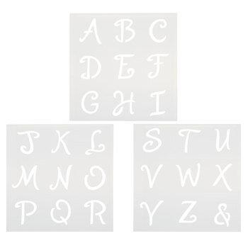 Alphabet Cookie Stencils