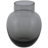 Gray Round Glass Vase