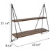 Geometric Two-Tiered Wood Wall Shelf
