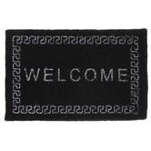 Miniature Black Welcome Doormat