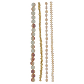 Metallic Champagne Bead Strands