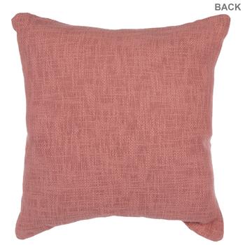 Peach & White Pom Pom Pillow