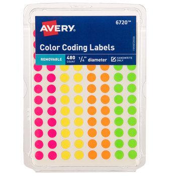 """Color Coding Labels - 1/4"""""""