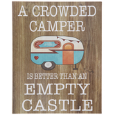 A Crowded Camper Wood Decor