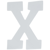 White Letter Wood Wall Decor - X