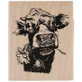 Cow Selfie Rubber Stamp