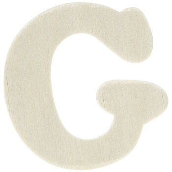"""Wood Letters G - 1 3/4"""""""