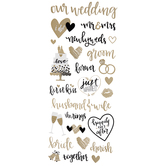 Newlywed Foil Stickers
