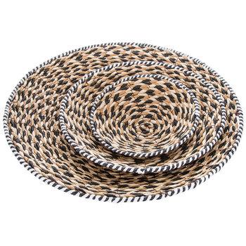 Braided Shallow Basket Set