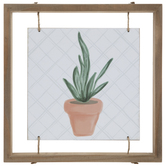 Potted Snake Plant Wood Wall Decor