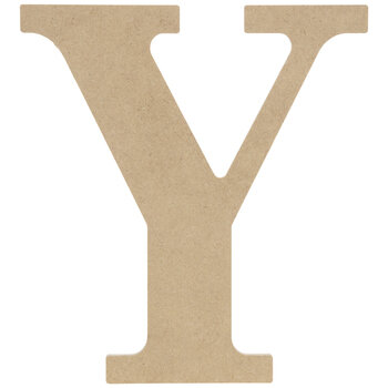 "Wood Letter Y - 9 1/2"""