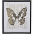 Gold Foil Butterfly Framed Wall Decor