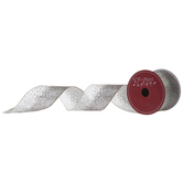 Glittered Ombre Wired Edge Sheer Ribbon - 2 1/2""