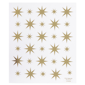 Gold Star Foil Stickers
