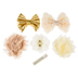 Ivory & Gold Flowers with Clips