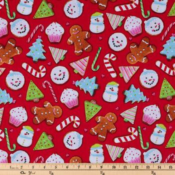 Christmas Cookies Cotton Fabric