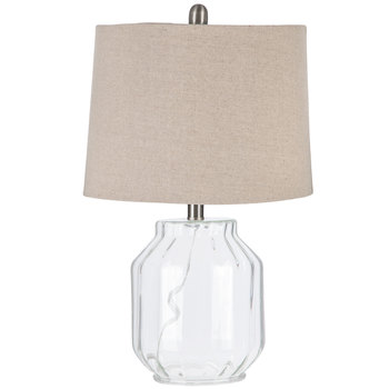 Ribbed Glass Lamp