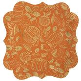 Orange & Gold Pumpkins Paper Plates