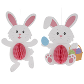 Bunny Honeycomb Hanging Decorations