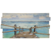 Sea Side Pier Wood Wall Decor
