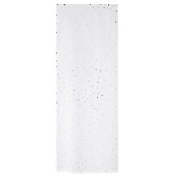 White & Silver Flecks Tissue Paper