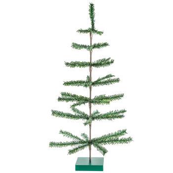 Green Tinsel Christmas Tree - 3'