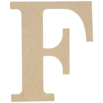 "Wood Letter F - 9 1/2"""