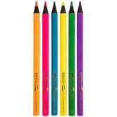 Cra-Z-Art Jumbo Neon Colored Pencils - 6 Piece Set