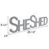 Gray She Shed Wood Wall Decor