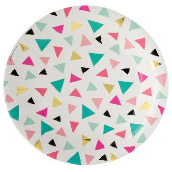 Triangle Confetti Paper Plates
