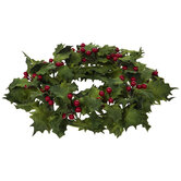 Holly Berry Candle Ring