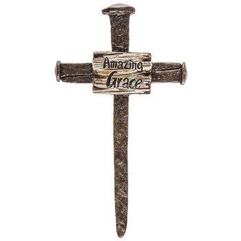 Amazing Grace Nail Wall Cross