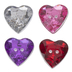Assorted Heart Acrylic Buttons - 12mm
