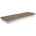 Brown & White Flourish Wood Wall Shelf