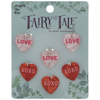 Red & Pink Valentine Heart Charms