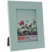 """Turquoise Distressed Wood Look Frame - 5"""" x 7"""""""