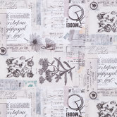 Vintage Text Collage Cotton Calico Fabric