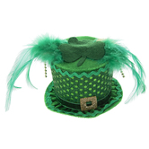 Green Top Hat Hair Clip