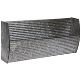 Corrugated Galvanized Metal Wall Shelf