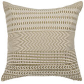 Olive & Beige Patterned Pillow Cover