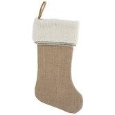 Beige & White Stocking