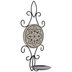Floral Medallion & Swirls Metal Wall Sconce