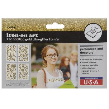 Ultra Glitter Alphabet Iron-On Appliques