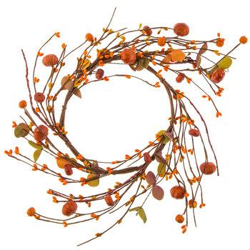 Orange Pumpkin & Berry Candle Ring