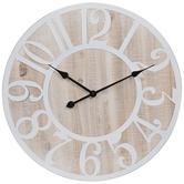 Whitewash Wood Wall Clock